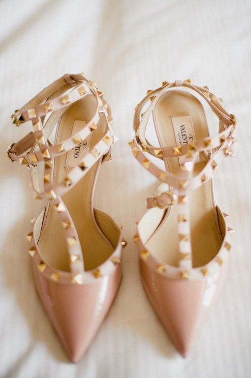 valentino shoes pink gold