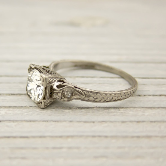 vintage carat diamond engagement ring