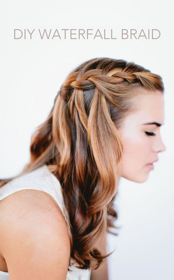 Waterfall braid wedding hairstyles for long hair once wed waterfall braid wedding hairstyles for long hair junglespirit Choice Image