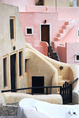 pink village greece