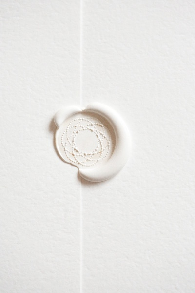 wax seal white