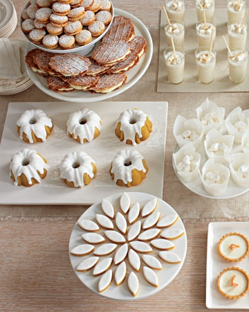 wedding dessert table simplistic natural