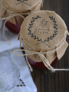 wedding favor homemade jam