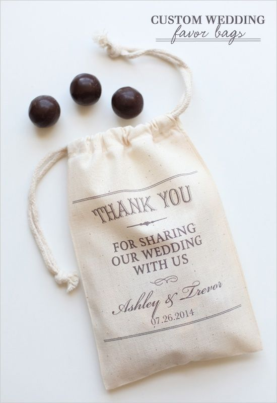Wedding Favor Bag Ideas : wedding-favors-chocolate-candies - Once Wed