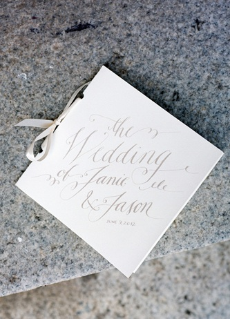 wedding paper goods programs