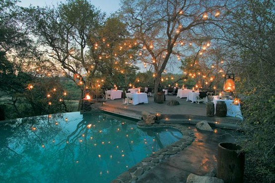 wedding pool side outdoors