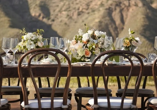 wedding reception outdoor mountains