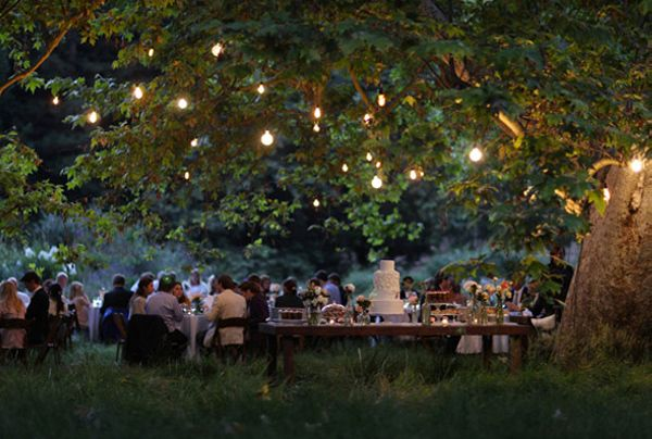 Wedding Reception Under the Stars