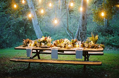 whimsical forest table setting