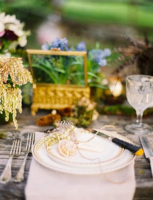 whimsical place setting wedding