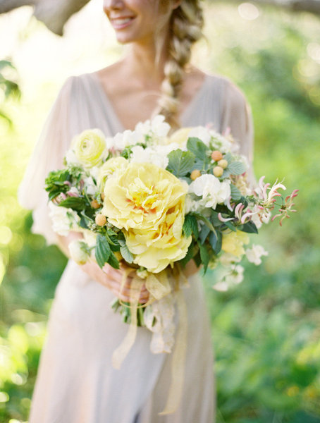 Whimsical Yellow Green Bouquet