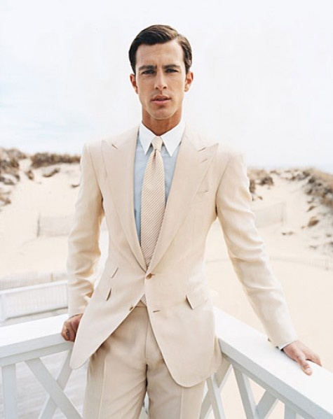 white beach suit