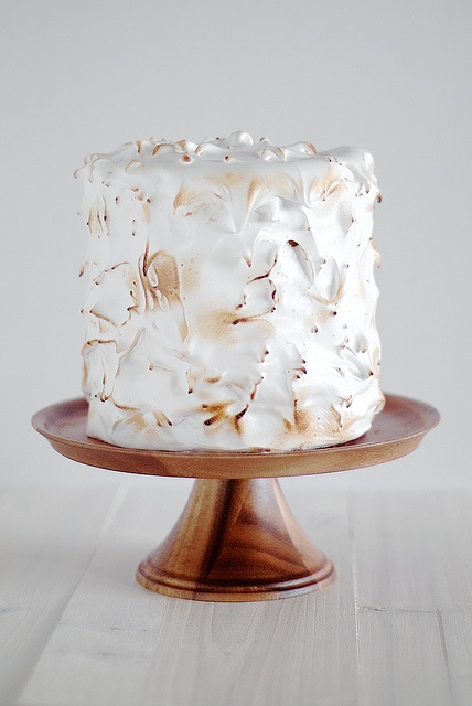 white brown coconut wedding cake
