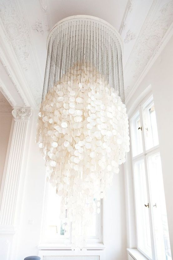 white chandelier hanging