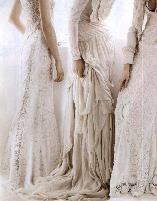 white cream ivory dresses