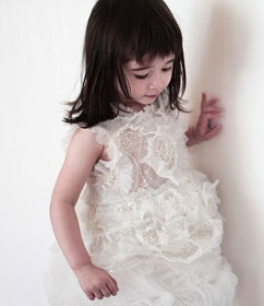 white flower girls dress