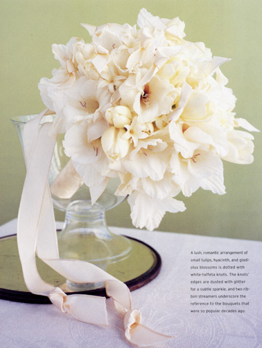 white flower glass vessel