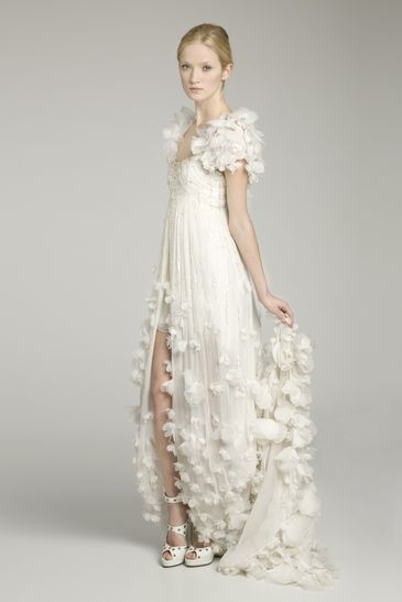 white flower gown