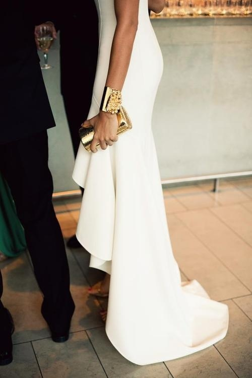 white formal party gown