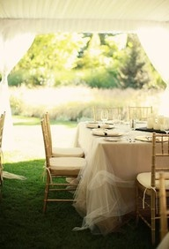 white garden wedding reception