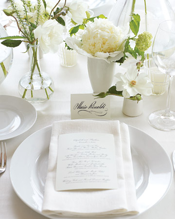 white garden table numbers