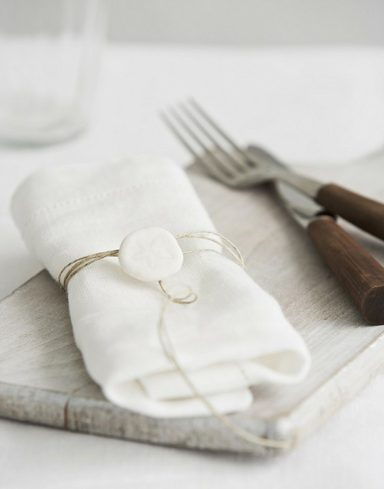 white linen wrapped twine