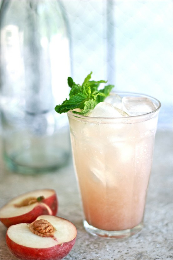 white peach cooler