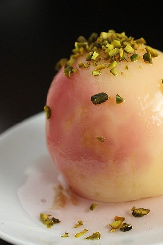 white peaches in rose water syrup