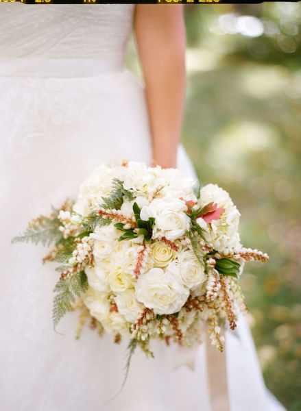 white pink full bouquet