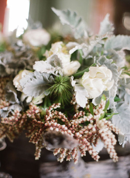 white pink green bridal bouquet