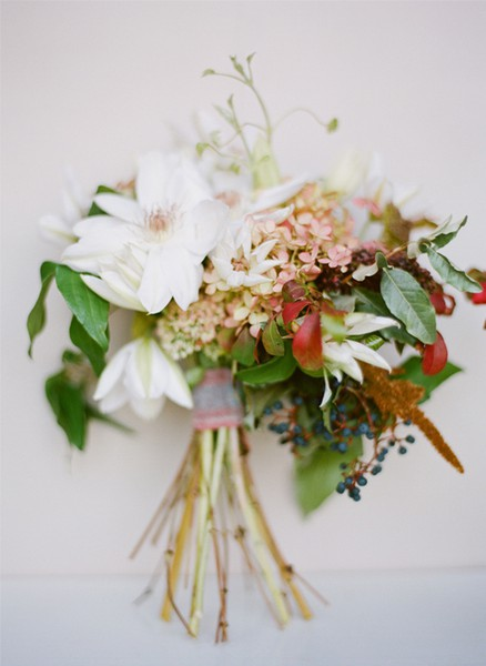 White Red Green Blossoming Bouquet