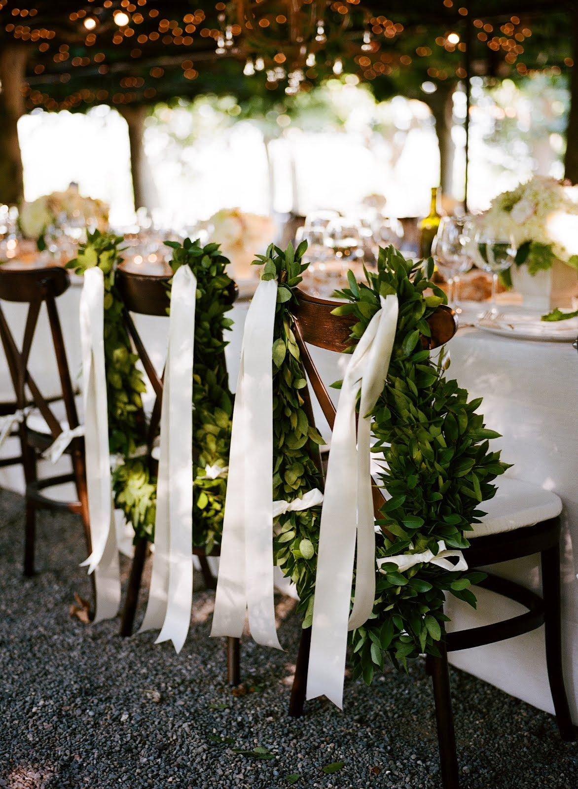 white-ribbon-chair-decorations