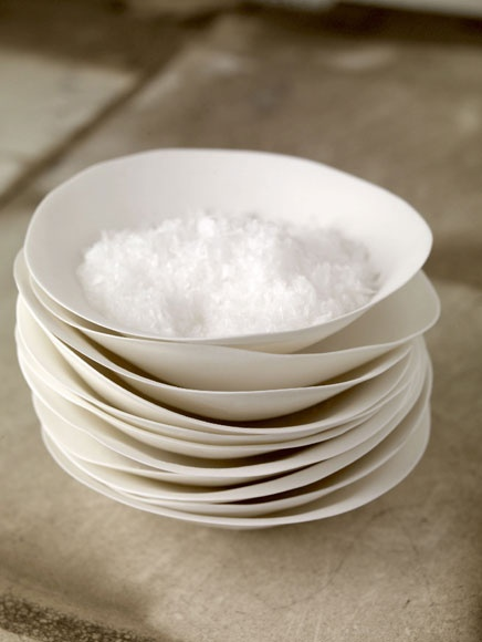 white salt dishes