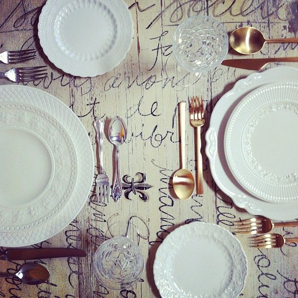 white scalloped wedding dishes
