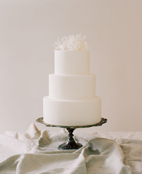 Simple Wedding Cakes Coral Cake Topper