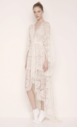white socks lace robe