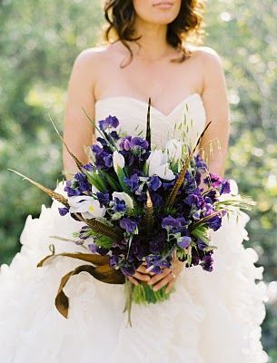 wild unique purple bouquet
