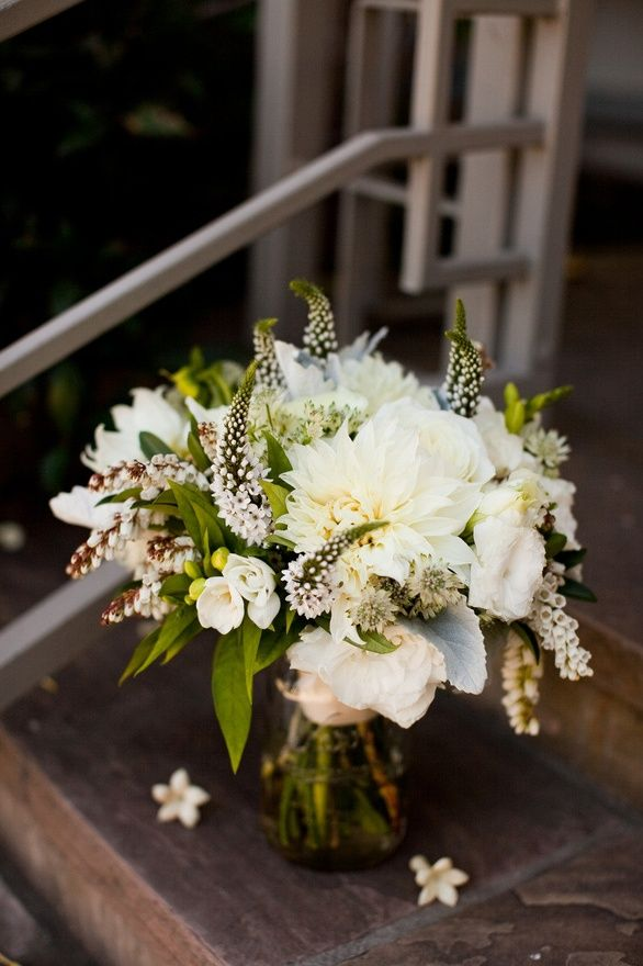 Wild White Green Bouquet
