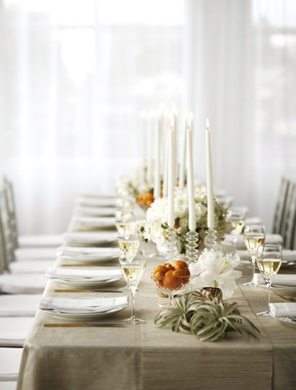 winter citrus wedding decor