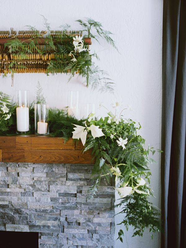 Winter wedding greenery garland once wed for Wedding greenery ideas