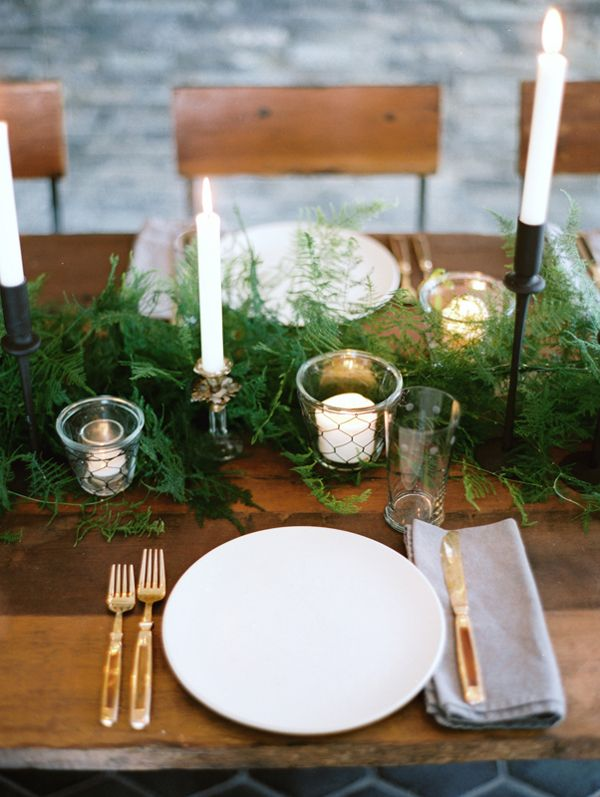 Winter wedding decorations once wed winter wedding table setting junglespirit Choice Image