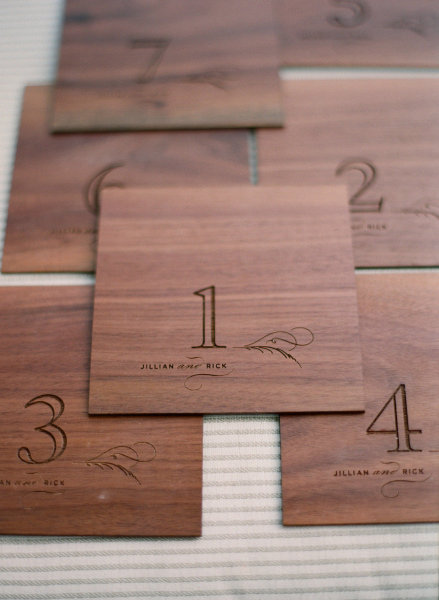wooden table numbers modern