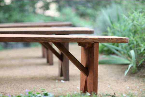 Wooden Wedding Ceremony Benches
