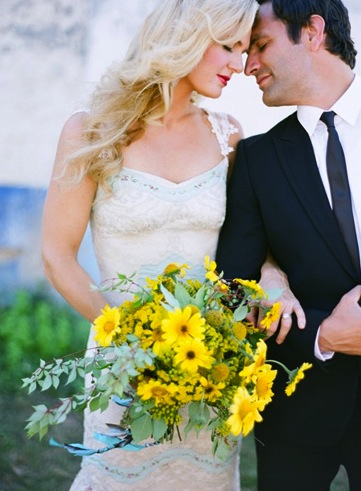 Yellow Bridal Bouquet Groom