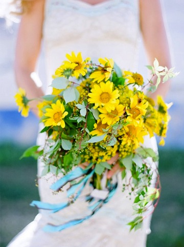 Yellow Field Flower Bridal Bouquet