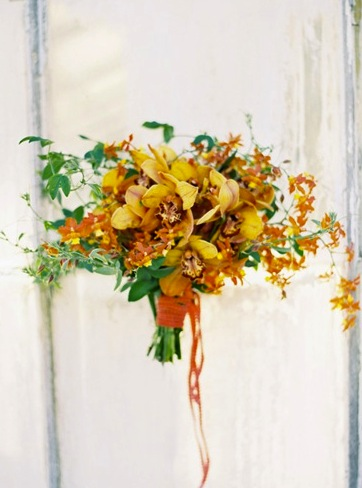 Yellow Orange Bridesmaid Bouquet