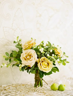yellow rose citrus bouquet