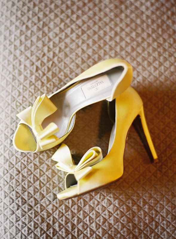 yellow valentino shoes