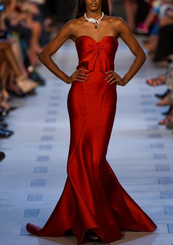 zac posen red dress