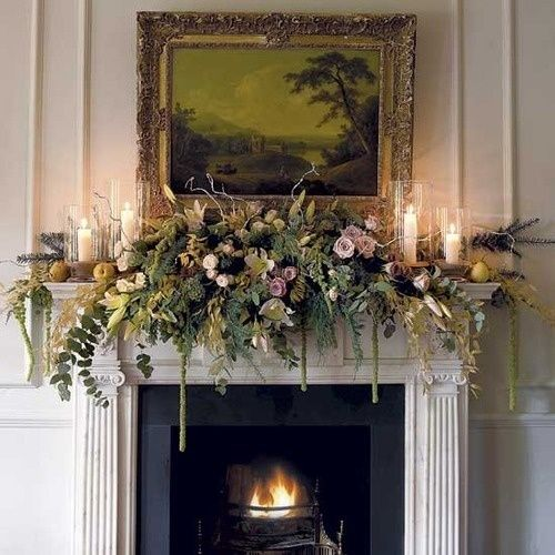 beautiful-flower-mantel